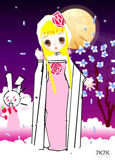 ... 怎么画视频图片 嫦娥和玉兔怎么画,中秋节的画玉兔